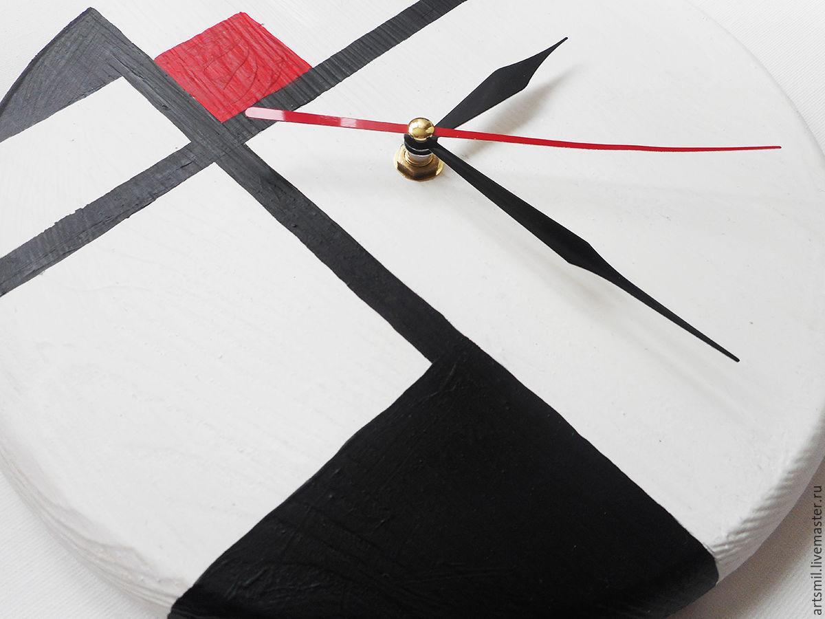 watch avangard. wall clock minimalist. painting on wood, Watch, Moscow,  Фото №1