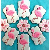 Сувениры и подарки handmade. Livemaster - original item Gingerbread Flamingo. Gingerbread Birthday.. Handmade.