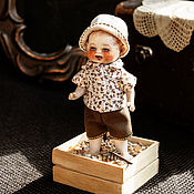 Куклы и игрушки ручной работы. Ярмарка Мастеров - ручная работа Куколка из антикварных деталей В песочнице. Handmade.