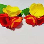 Резинка для волос ручной работы. Ярмарка Мастеров - ручная работа Резинка для волос: цветочки. Handmade.