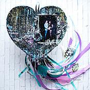 Подарки на 14 февраля ручной работы. Ярмарка Мастеров - ручная работа Панно сердце с фотографией в этническом стиле. Handmade.