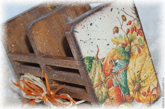 Кухня ручной работы. Ярмарка Мастеров - ручная работа. Купить Ящичек Осень. Handmade. Столовые приборы, акриловые краски