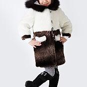Работы для детей, handmade. Livemaster - original item Coat for girls fur. Handmade.