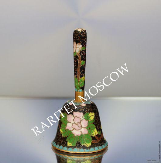 Винтажные предметы интерьера. Ярмарка Мастеров - ручная работа. Купить Колокольчик клуазоне латунь эмаль цветы Англия 21. Handmade.