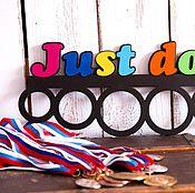 Для дома и интерьера handmade. Livemaster - original item Just do it Medal Holder. Handmade.