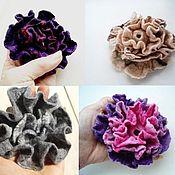 Украшения handmade. Livemaster - original item Copy of The brooch is felted of wool and silk Cream rose. Handmade.