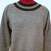 Одежда handmade. Livemaster - original item Grey Merino jumper with elastic bands. Handmade.