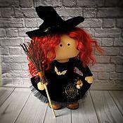 Куклы и игрушки handmade. Livemaster - original item Interior doll-little witch. Handmade.