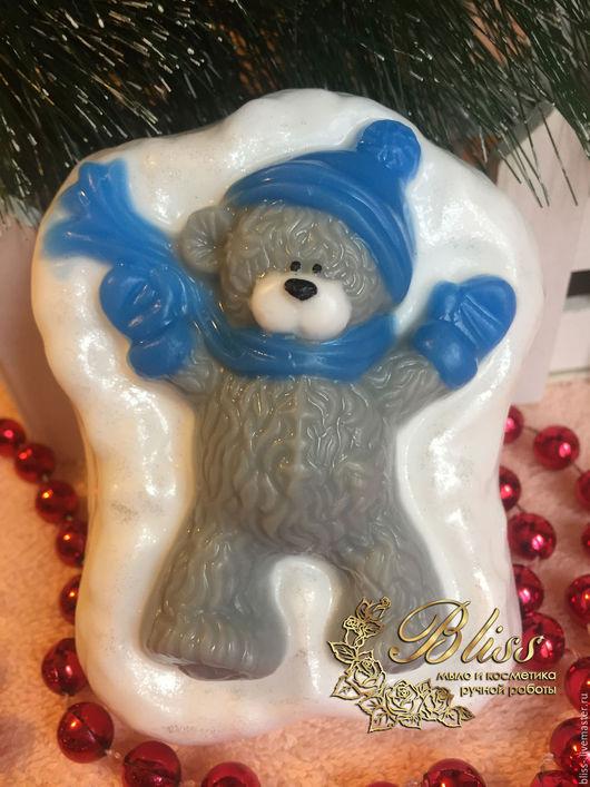 Мыло ручной работы. Ярмарка Мастеров - ручная работа. Купить Мыло Тедди на снегу. Handmade. Мыло ручной работы