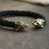 Украшения handmade. Livemaster - original item Leather bracelet Lynx. Handmade.