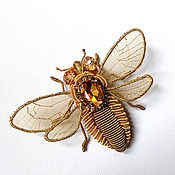 Украшения ручной работы. Ярмарка Мастеров - ручная работа брошь abeille. Handmade.