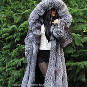 Одежда handmade. Livemaster - original item ROYAL COAT SAGA FURS FOX FUR WITH A HOOD OGROMNYM. Handmade.