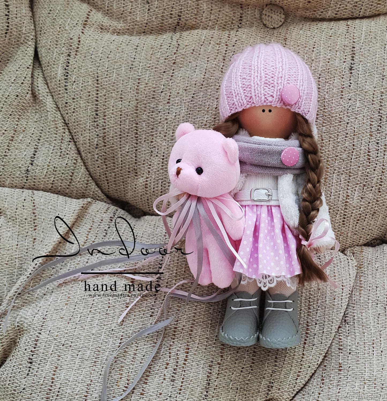 Эмили. Интерьерная текстильная кукла («маршмеллоу»), Тыквоголовка, Екатеринбург,  Фото №1