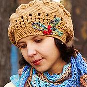 Berets handmade. Livemaster - original item Women`s voluminous warm beret crochet hat with Rowan. Handmade.