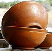 Посуда ручной работы. Ярмарка Мастеров - ручная работа Керамические миски большие. Handmade.