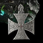Кулон ручной работы. Ярмарка Мастеров - ручная работа Брутальний мужской кулон Мальтийский крест. Handmade.