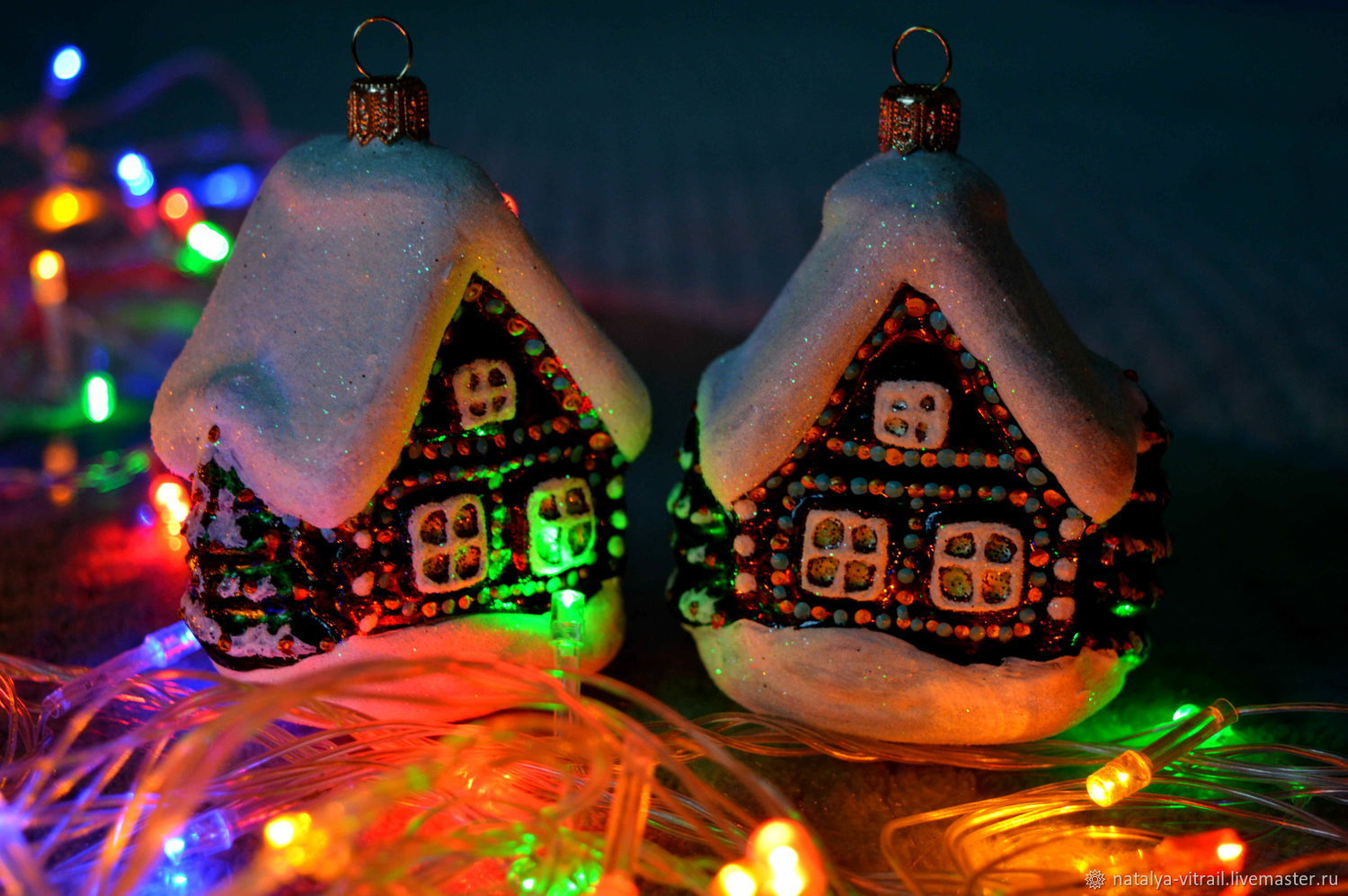 Christmas toy glass House, Christmas decorations, Klin,  Фото №1