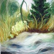 Картины и панно handmade. Livemaster - original item Picture of wool