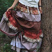 """Одежда ручной работы. Ярмарка Мастеров - ручная работа Юбка в клеточку """"Лесная"""". Handmade."""