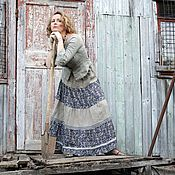 """Одежда ручной работы. Ярмарка Мастеров - ручная работа Длинная юбка  """"Ярусная"""". Handmade."""