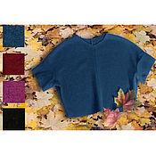 Одежда ручной работы. Ярмарка Мастеров - ручная работа Свитер шерстяной свитер синий полувер. Handmade.
