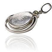 Украшения handmade. Livemaster - original item Pendant drop from 925 sterling silver and meteorite Gibeon. Handmade.