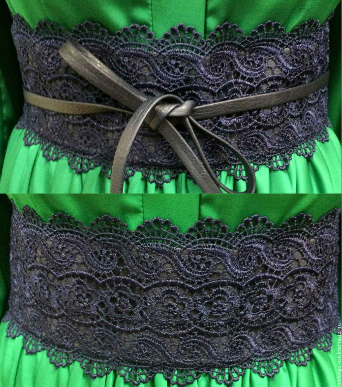 Пояс для платья из кожи своими руками