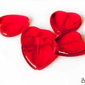 Материалы для творчества ручной работы. Ярмарка Мастеров - ручная работа Крупная бусина- сердце из чешского стекла. Handmade.