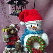 Подарки к праздникам ручной работы. Ярмарка Мастеров - ручная работа Очаровательный снеговик.. Handmade.