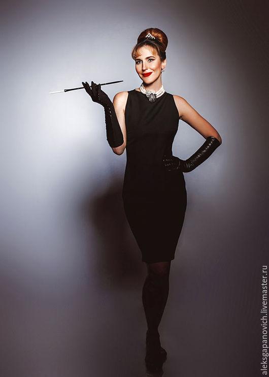 """Платья ручной работы. Ярмарка Мастеров - ручная работа. Купить Платье """"Одри"""". Handmade. Черный, стильное платье"""