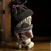Куклы и игрушки ручной работы. Ярмарка Мастеров - ручная работа Мопс с историей. Handmade.