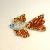 """Украшения handmade. Livemaster - original item Pendant of beads """"fish"""". Handmade."""