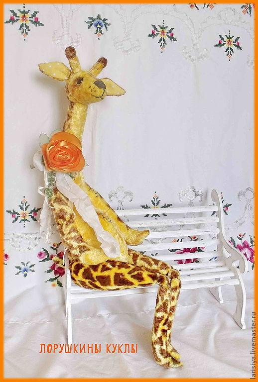 Мишки Тедди ручной работы. Ярмарка Мастеров - ручная работа. Купить Жираф Жерар. Handmade. Желтый, жираф в технике тедди