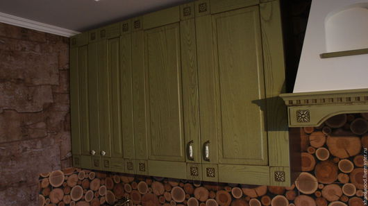 Кухня ручной работы. Ярмарка Мастеров - ручная работа. Купить Фасады на кухню. Handmade. Зеленый