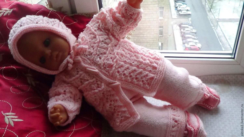 Вязание для новорожденных костюмчик для девочки 56