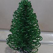 Деревья ручной работы. Ярмарка Мастеров - ручная работа Новогодняя елочка из бисера. Handmade.