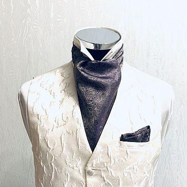 Аксессуары ручной работы. Ярмарка Мастеров - ручная работа Шейный платок Аскот (галстук) Danio. Handmade.