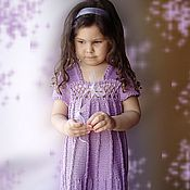 """Работы для детей, ручной работы. Ярмарка Мастеров - ручная работа Узорчатое платье """"Тюльпаны"""". Handmade."""