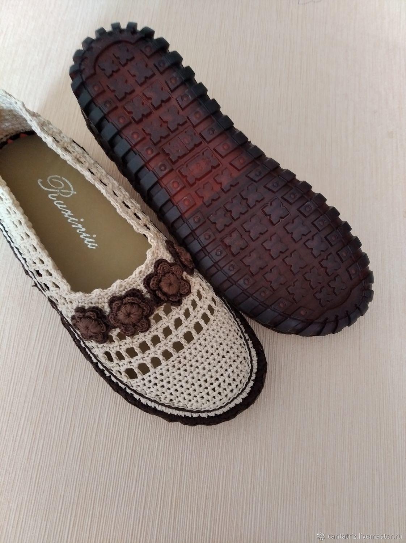 Вязаные туфли размер 39, Туфли, Балашиха,  Фото №1