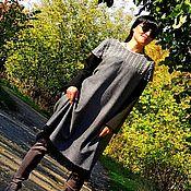 Одежда handmade. Livemaster - original item Winter dress of tweed with embroidery (363). Handmade.