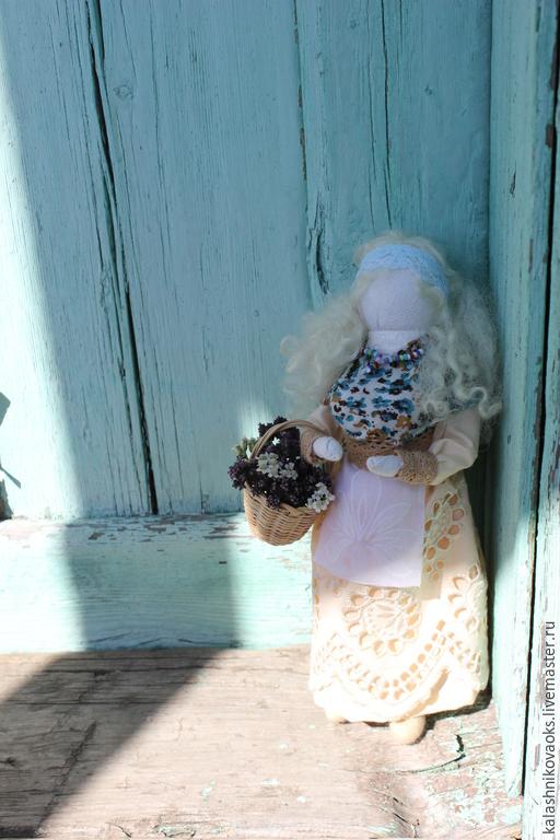 """Народные куклы ручной работы. Ярмарка Мастеров - ручная работа. Купить Кукла """" Травница Аннушка"""". Handmade. Голубой"""