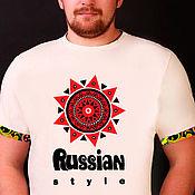 T-shirts handmade. Livemaster - original item T-shirt RS Sun. Handmade.