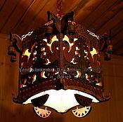 Для дома и интерьера handmade. Livemaster - original item Lamp chandelier wood Divo. Handmade.