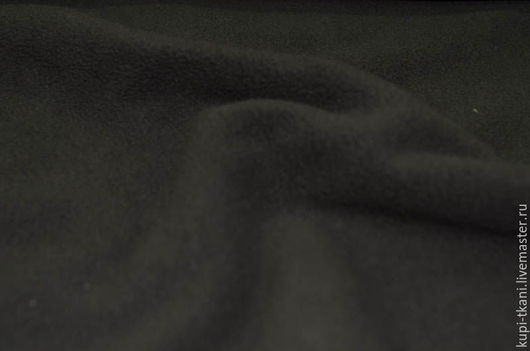 Шитье ручной работы. Ярмарка Мастеров - ручная работа. Купить Ткань флис черного цвета. Handmade. Черный, ткань флис
