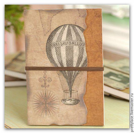"""Ежедневники ручной работы. Ярмарка Мастеров - ручная работа. Купить Блокнот """"Воздушный шар"""" в подарок путешественнику. Handmade. Блокнот для записей"""
