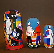 Русский стиль handmade. Livemaster - original item Matryoshka Kandinsky-Malevich (variant design). Handmade.