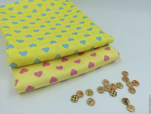 Куклы и игрушки ручной работы. Ярмарка Мастеров - ручная работа. Купить набор тканей СЕРДЕЧКИ (2 отреза 45х40 см). Handmade.