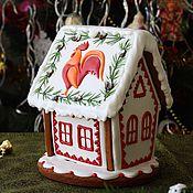"""Сувениры и подарки ручной работы. Ярмарка Мастеров - ручная работа Новогодний пряничный домик """"Петушок"""". Handmade."""