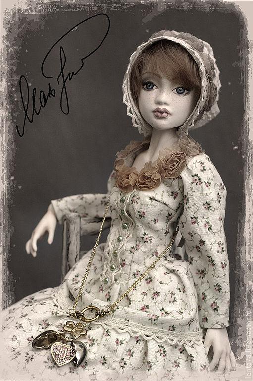 """Коллекционные куклы ручной работы. Ярмарка Мастеров - ручная работа. Купить Шарнирная кукла """"Натали"""". Handmade. Бежевый, кукла в подарок"""