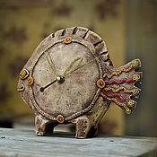 """Для дома и интерьера ручной работы. Ярмарка Мастеров - ручная работа Настольные часы """"Чудо-рыба"""". Handmade."""